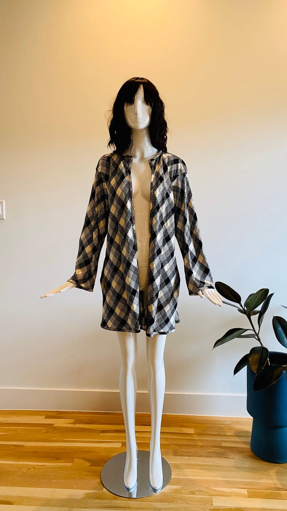 Vintage UNGARO / Black and White Houndstooth Jacke