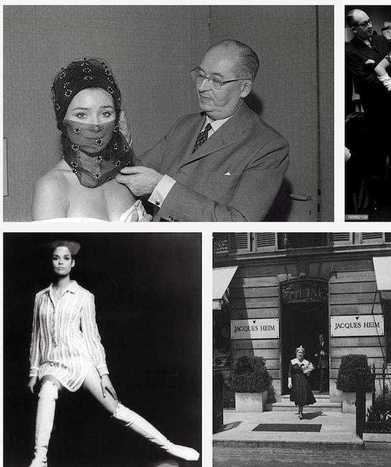 HEIM 50s Black Satin Turban For Neiman Marcus / V… - image 9