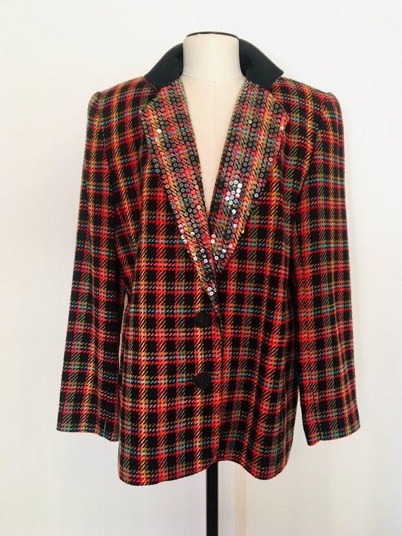 Vintage OVERSIZED Blazer /Criscione tweed blazer /