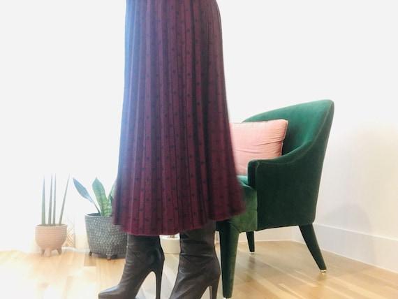 Vintage Sweater Midi Skirt / Wool Midi Skirt / Swe