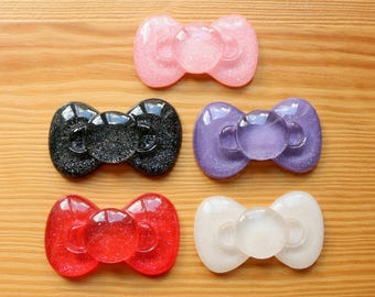 5 pc Large Puffy Bow Cabochons - Kawaii