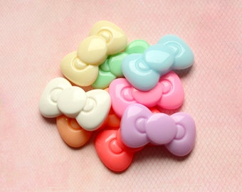 Medium Bow Cabochons (Kawaii) Decoden Resin Pieces