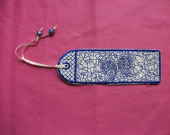 Embroidered book mark