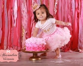 SOFT PINK PETTISKIRT with Bow, Light Pink Tutu, Newborn Pettiskirt, Baby Pettiskirt, Toddler Pettiskirt, Smash Cake, Birthday Outfit.