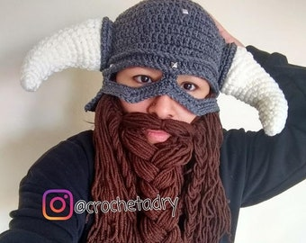 Crochet Viking Hat Etsy