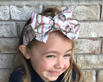 Top Knot Head Wrap/ baseball headwrap/ baseball headband