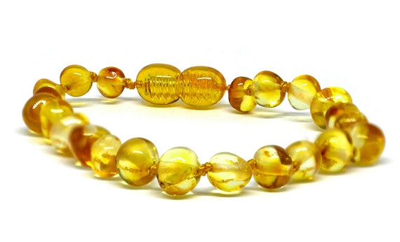 Genuine Baltic Amber Bracelet//Anklet Knotted Beads  sizes14-25 cm
