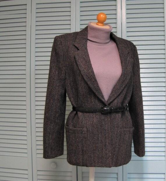 Vintage Women's Harris Tweed Jacket / VTG Kassel B