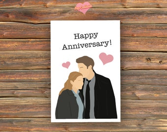Pam & Jim - Happy Anniversary [The Office] Card