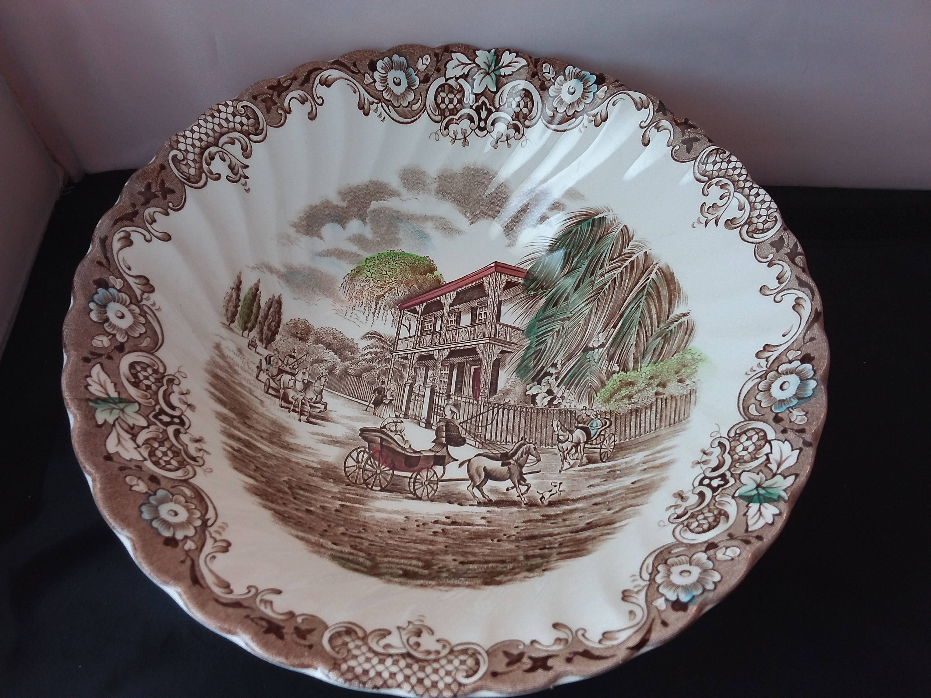 Johnson Brothers Heritage Hall French Provincial Large Serving Bowl ...