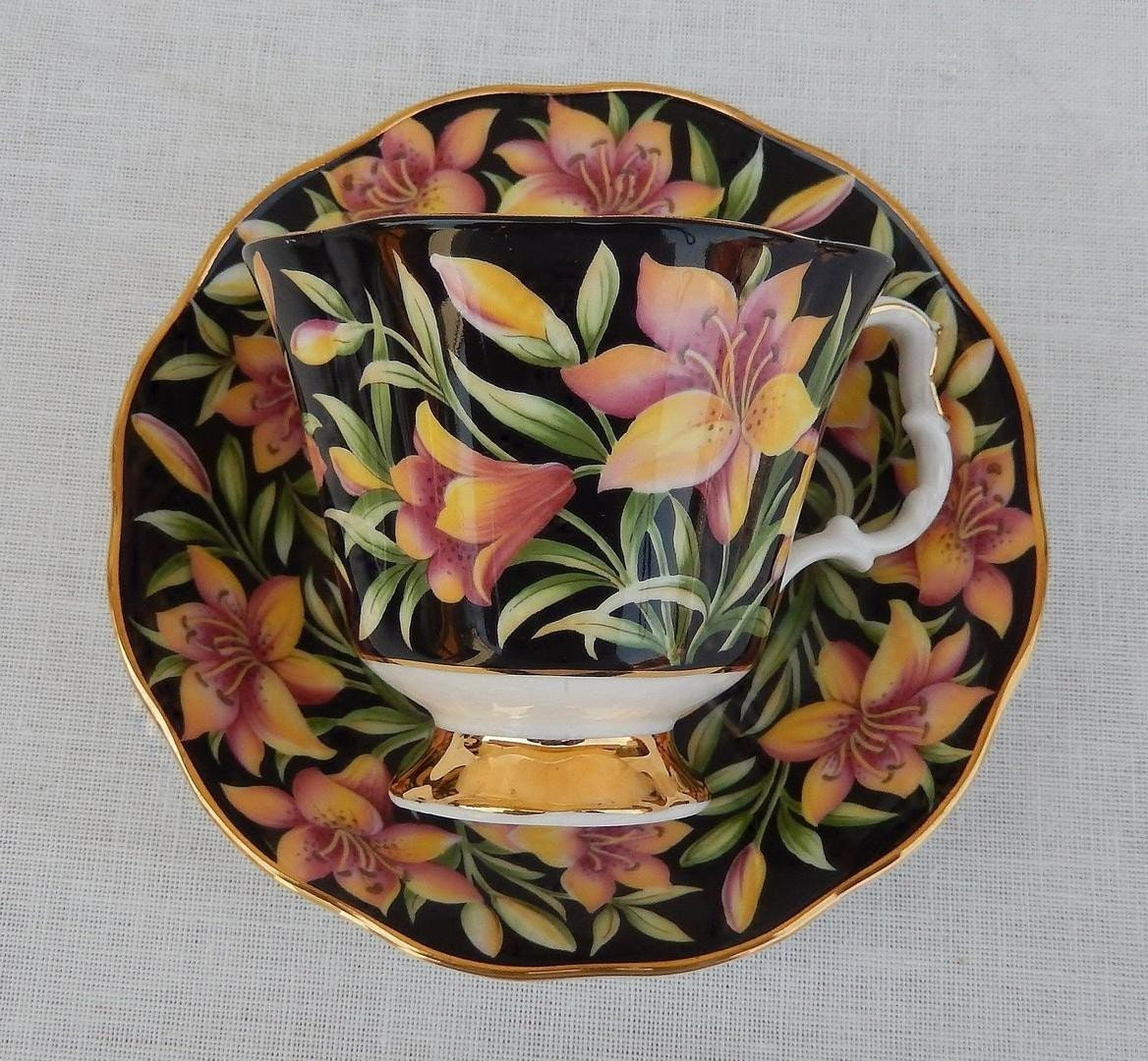 Royal Albert Prairie Lily Teacup And Saucer Provincial Flowers