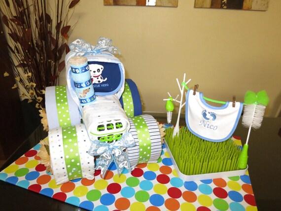 Tractor Diaper Cake Baby Shower Diaper Cake Fancy Baby Etsy