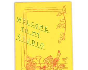 Welcome To My Studio zine - risograph art book