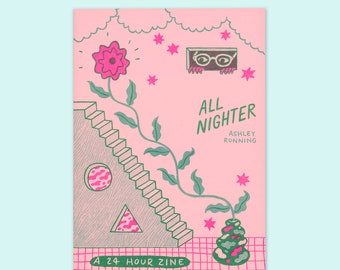 All Nighter risograph art zine