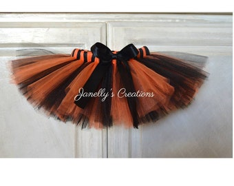 dc03fa5bec Halloween, Teen tutu, Adult tutu, Plus size tutu, choose your length,  birthday tutu, witches tutu, Cosplay, Orange & black, Tiger, customize