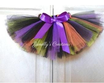 Halloween tutu - witches tutu - birthday tutu - newborn tutu - preemie tutu - kids tutu - black - orange - purple - green tutu