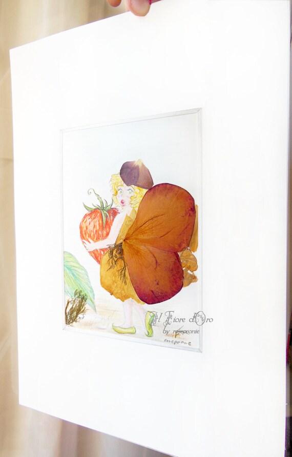 Disegno Originale A Pastello Fate Della Frutta Etsy