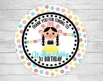 FVTAGS-908: DIY - Fiesta Doll Favor Tags Or Stickers