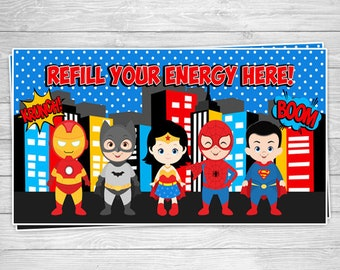 PRTYB2-815: DIY Super Hero 26 Party Banner