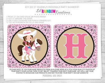 PRTYB-829: Cowboy and Cowgirl Party Banner