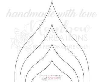 DIY: Flower Template #7 - Instant Downloadable File