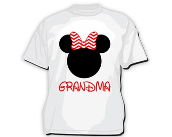 TS-110: DIY - Minnie Mouse Grandma T-Shirt Design - Instant Downloadable File