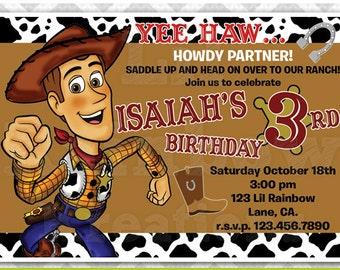 171: DIY - Cowboy Woody Party Invitation Or Thank You Card