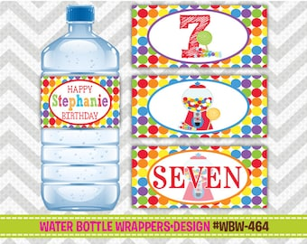 WBW-464: DIY - Cute Candy Shop 2 Water Bottle Wrappers