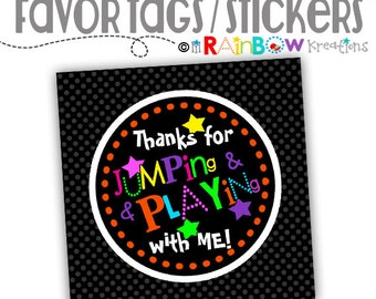 FVTAGS-075: DIY Glow In The Dark Favor Tags Or Stickers - Instant Downloadable File