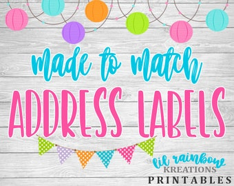 Made To Match Address Labels For Any Theme