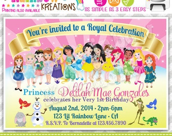 738: DIY - Toddler Princesses Inspired Party Invitation Or Thank You Card
