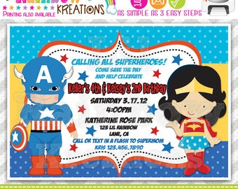 315: DIY - Super Hero 4 Party Invitation Or Thank You Card