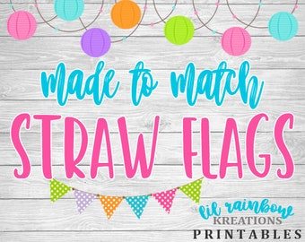 Made To Match Straw Flags For Any Theme
