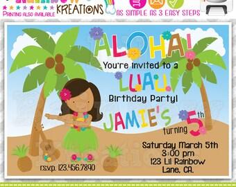 236: DIY - Luau 4 Party Invitation Or Thank You Card