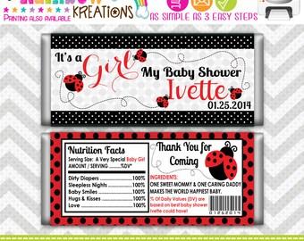 CBW-683: DIY -  Pretty Little Lady Bug 3 Candy Bar Wrapper
