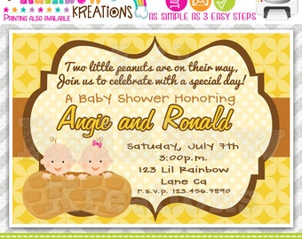 411: DIY - My Little Peanut Party Invitation Or Thank You Card