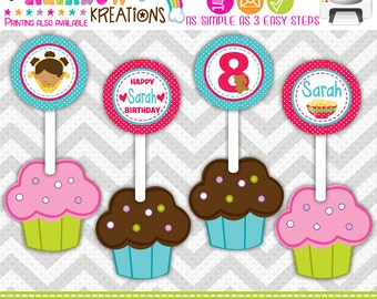 CT-678: DIY - Pajamas Sleepover 7 Cupcake Toppers