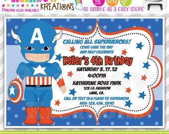 319: DIY - Super Hero 5 Party Invitation Or Thank You Card
