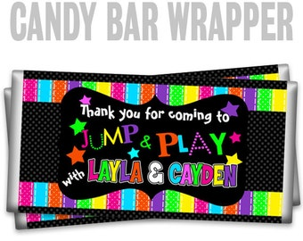 CBW2-075: Glow In The Dark Candy Bar Wrapper To Match Your Theme