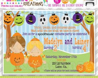522: DIY - Halloween 14 Party Invitation Or Thank You Card