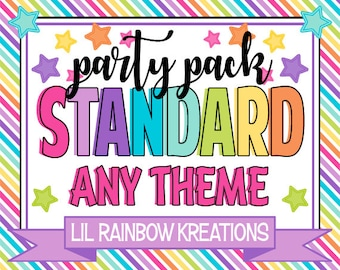 STANDARD PARTY PACK - Choose Any 10 Printable Files