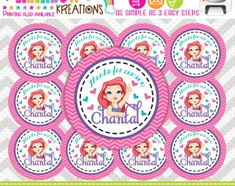 FVTAGS2-589: DIY - Baby Princesses Inspired Favor Tags Or Stickers
