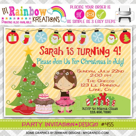 Christmas In July Party Clipart.455 Diy Christmas In July Party Invitation Or Thank You Card