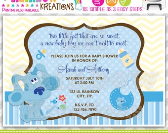 263: DIY - Blues Clues Party Invitation Or Thank You Card