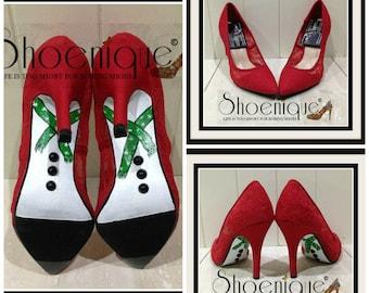 0f58a99879709 Christmas heels | Etsy