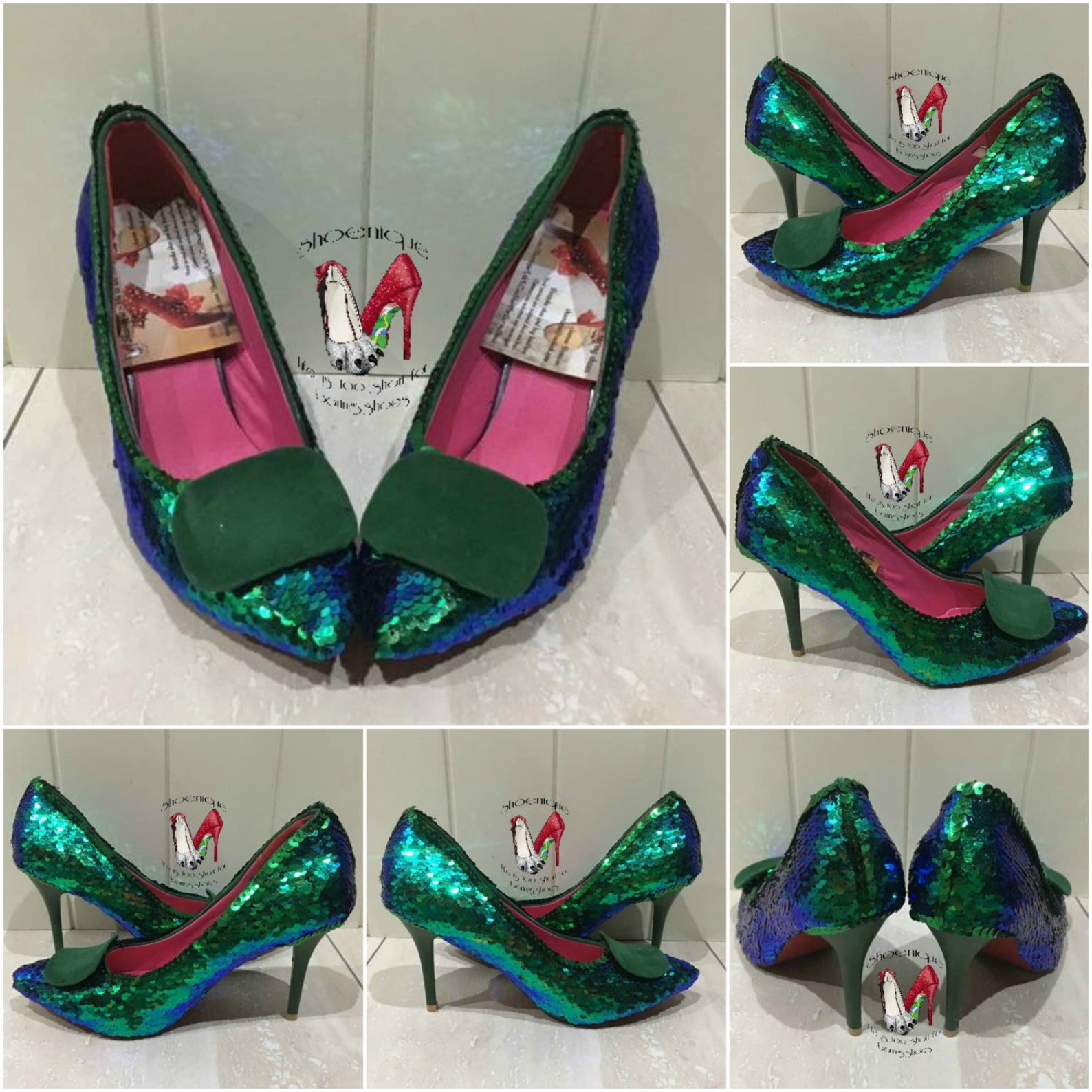 mermaid scales reversible sequins shoes heels uk bespoke fabric size 3 4 5 6 7 8 platform flats ballet pumps