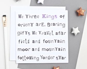 We Three Kings Christmas Card, blank christmas card, christmas cards pack, christmas cards, xmas cards pack, christmas carol card