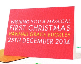 Personalised 'First Christmas' Card, First Christmas