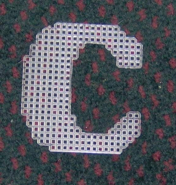 4 Inch Pre Cut Plastic Canvas Letters C