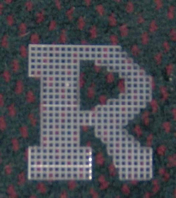 4 Inch Pre Cut Plastic Canvas Letters R